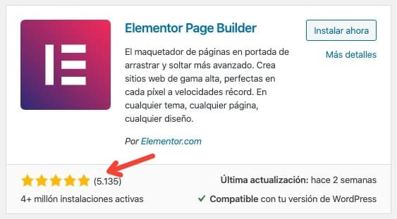 Elementor repositorio WordPress