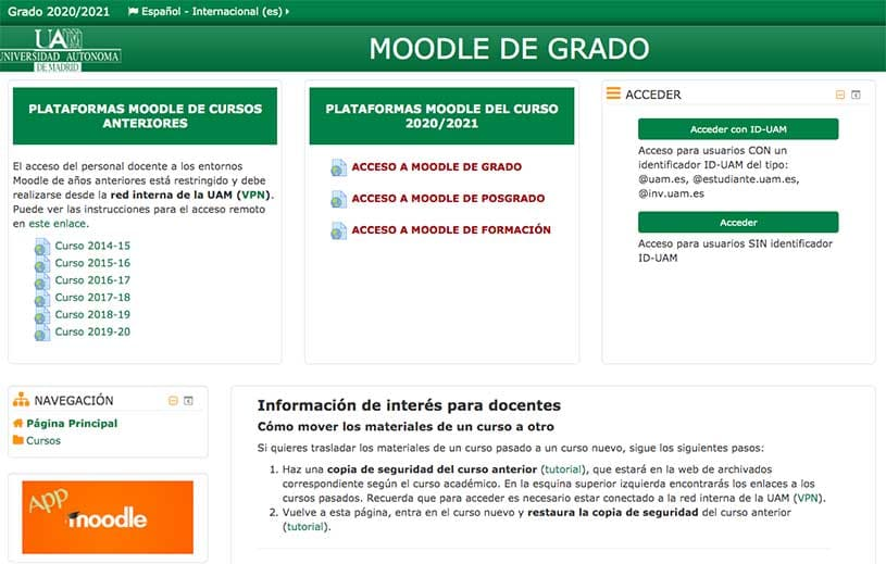 moodle universidad