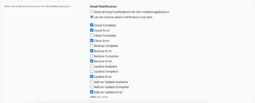 configurar notificaciones Magento