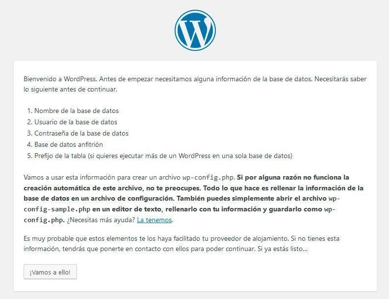 bienvenida-wordpress-local