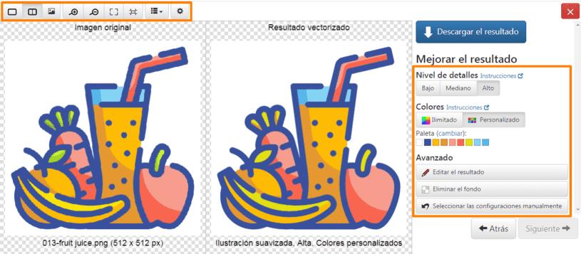 editar imagen en vector magic