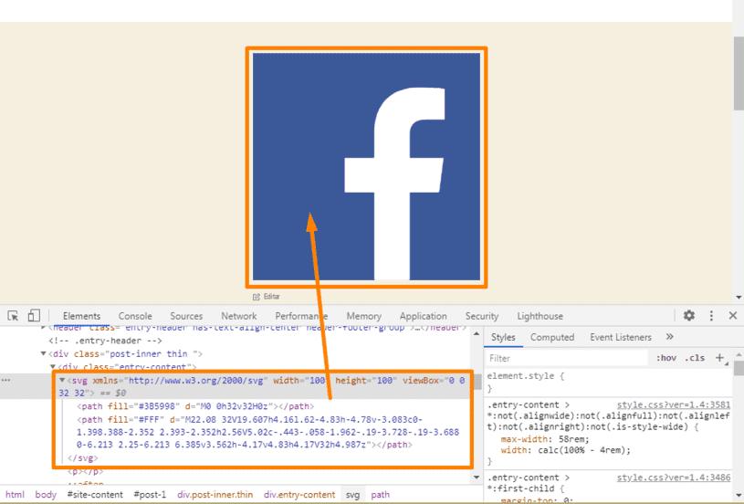 logo facebook SVG