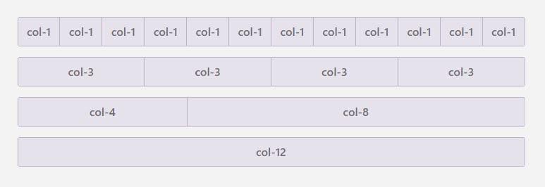 grid o sistema rejilla de bootstrap