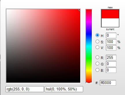 colores en HTML