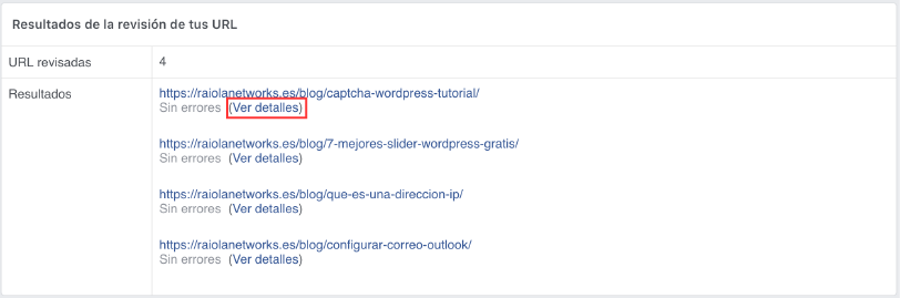 borrar cache post facebook