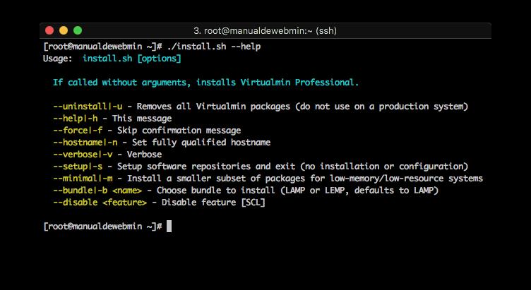 Como instalar Virtualmin - Paso 2