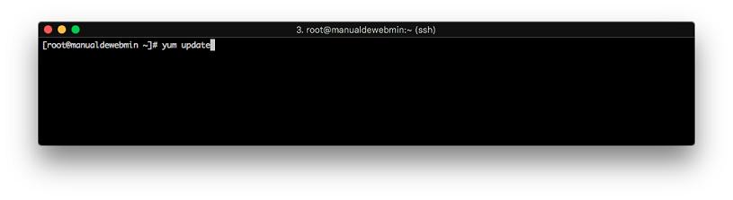 Instalar Webmin en Centos 7 - Paso 1 - actualizar el sistema