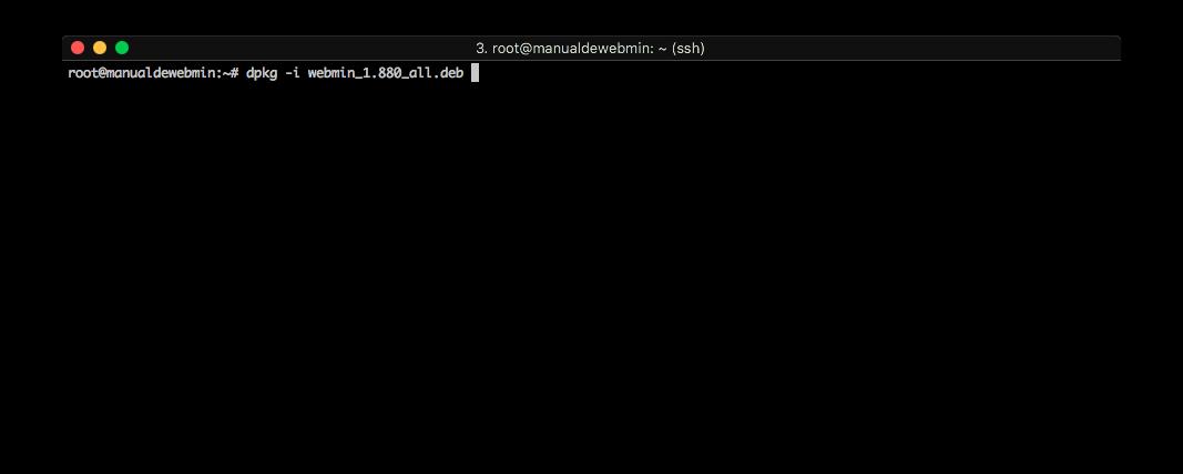 Instalar Webmin en Ubuntu 16.04 - Paso 4 - Instalar el .DEB de webmin