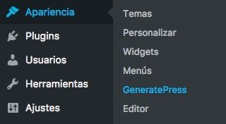 Personalizar GeneratePress
