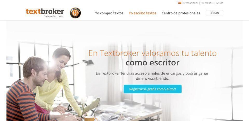Sitio web de textbroker