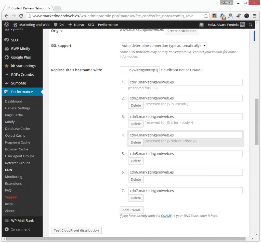 cloudfront wordpress