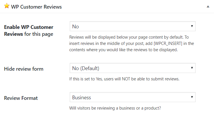 configurar wp customer reviews plugin testimonios wordpress