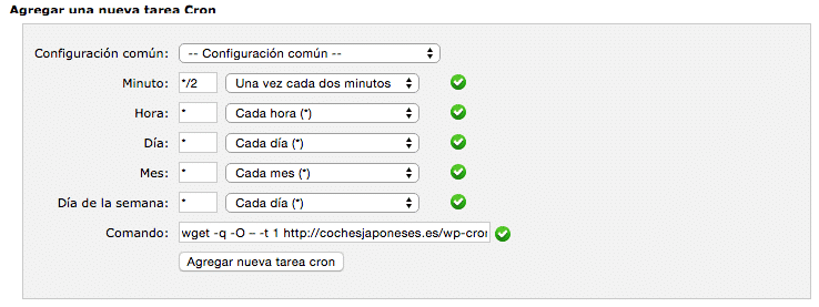 desactivar wp cron wordpress