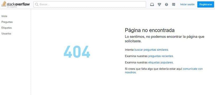 ejemplo error 404 google