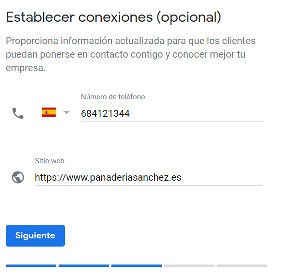 Google My Business sexto paso