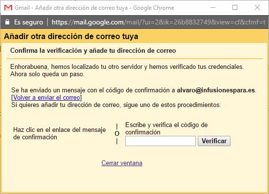 añadir dirección gmail
