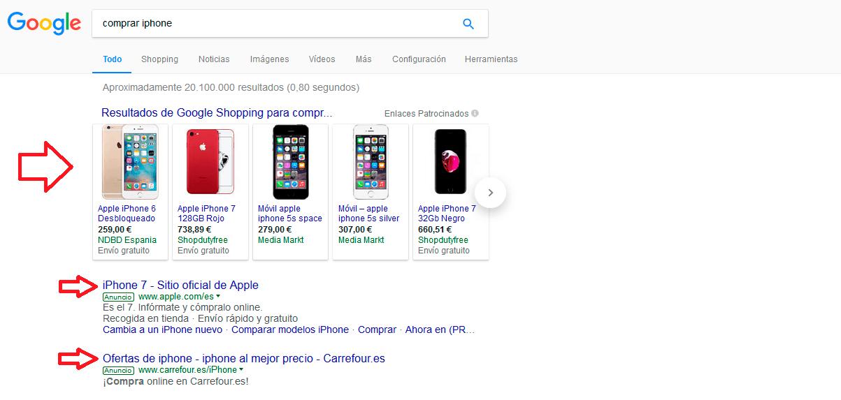 google shopping precio