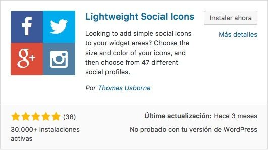 Lightweight Social Icons para GeneratePress