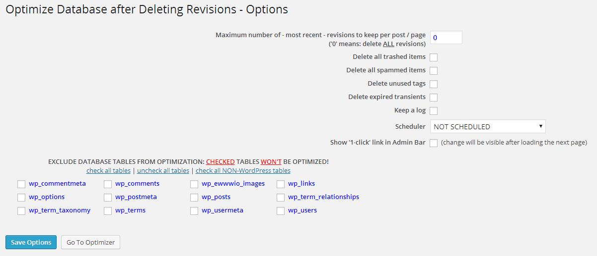 limpieza wordpress