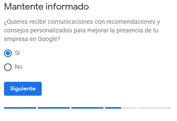 Google My Business séptimo paso