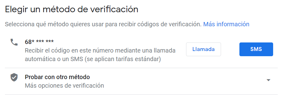Google My Business método verificación