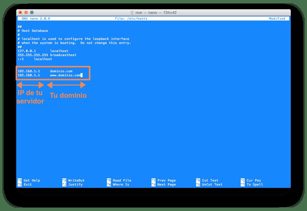 modificar hosts linux
