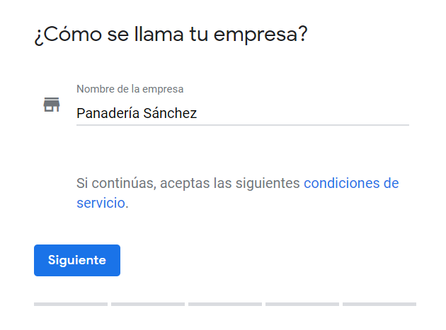 Google My Business primer paso