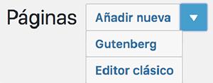novedad wordpress gutenberg