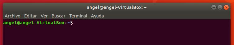 direccion IP privada linux terminal vacía