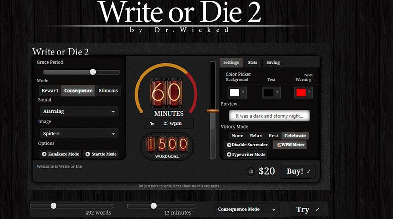 write or die herramientas de productividad para freelance